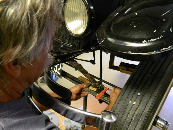 Albuquerque Drive Shaft >> Work Party at Larry's Garage (Sept. 13, 2014) | Tin Lizzies of Albuquerque